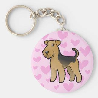Airedale Terrier/amor de Terrier galés Llavero Personalizado