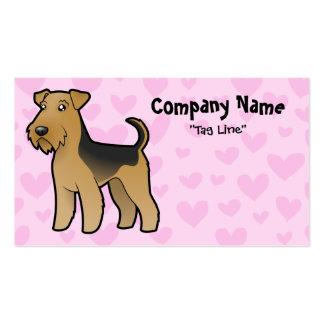 Airedale Terrier/amor de Terrier galés Plantillas De Tarjetas De Visita
