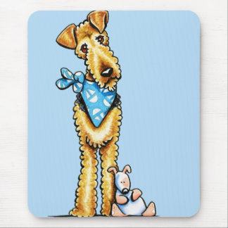 Airedale Terrier and Puppy Mouse Pad