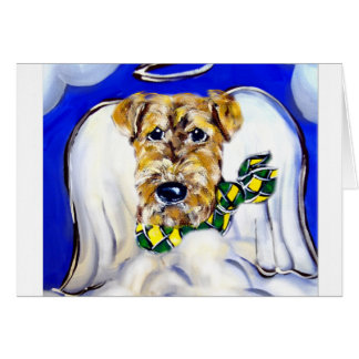 Airedale Terrier Angel Greeting Card