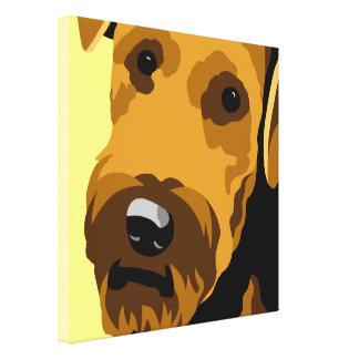 Airedale Terrier Art Canvas Print