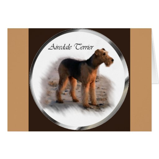 Airedale Terrier Art Gifts Greeting Card