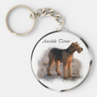 Airedale Terrier Art Gifts Keychain