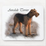 Airedale Terrier Art Gifts Mouse Pad