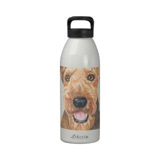 Airedale Terrier Art Reusable Water Bottle