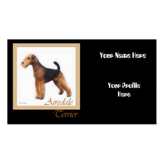 Airedale Terrier Art, Your Name Here Business Card Templates