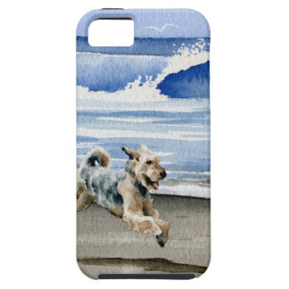 Airedale Terrier At The Beach iPhone SE/5/5s Case