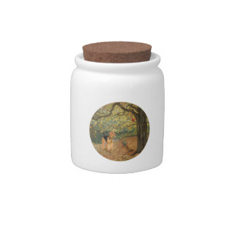Airedale Terrier Birdwatching Candy Dish