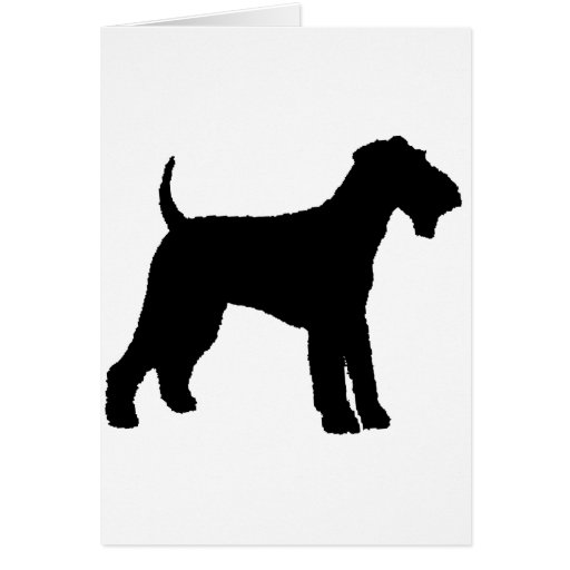 Airedale Terrier (black) Greeting Cards