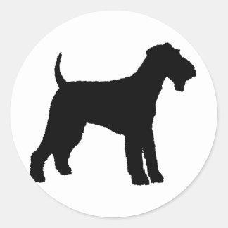 Airedale Terrier (black) Sticker