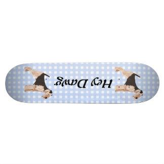 Airedale Terrier Blue Gingham Skateboard Deck