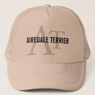 Airedale Terrier Breed Monogram Trucker Hat