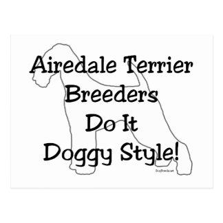 Airedale Terrier Breeders Postcard