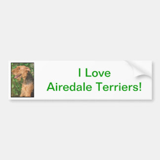Airedale Terrier Bumper Sticker