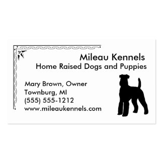 Airedale Terrier Business Card Templates