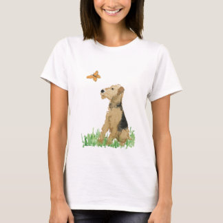 Airedale Terrier & Butterfly T-Shirt