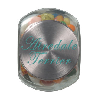 Airedale Terrier Jelly Belly Candy Jars