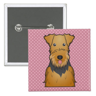 Airedale Terrier Cartoon Button