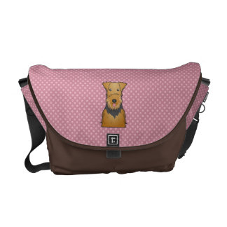 Airedale Terrier Cartoon Courier Bag