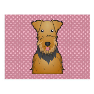 Airedale Terrier Cartoon Postcard