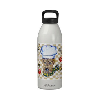 Airedale Terrier Chef Water Bottle