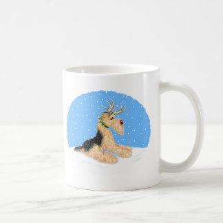 Airedale Terrier Christmas Dale Deer Mug