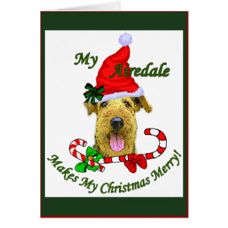 Airedale Terrier Christmas Gifts Card