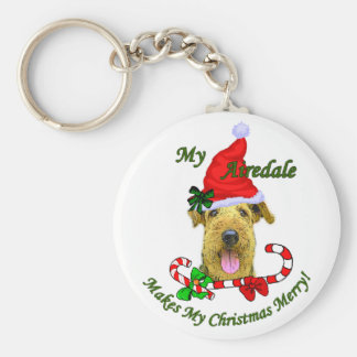 Airedale Terrier Christmas Gifts Key Chain
