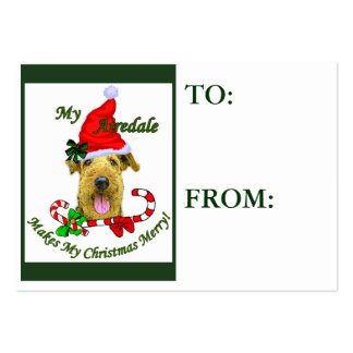 Airedale Terrier Christmas Gifts Name Tags Business Cards