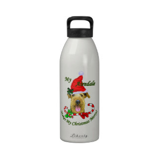 Airedale Terrier Christmas Gifts Drinking Bottles