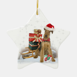 Airedale Terrier Christmas Christmas Tree Ornaments
