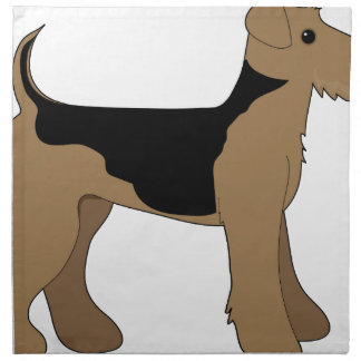 Airedale Terrier Cloth Napkin
