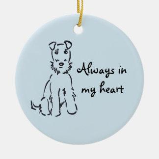 Airedale Terrier Customizable Dog Memory Keepsake Ceramic Ornament