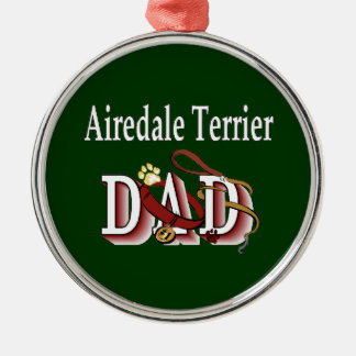 Airedale Terrier Dad Metal Ornament