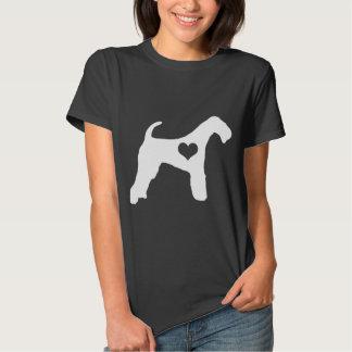 Airedale Terrier Dark Colors Heart T-Shirt