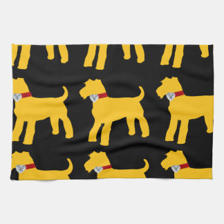AIREDALE TERRIER DESIGN HAND TOWEL