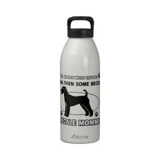 Airedale terrier designs reusable water bottle