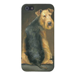 Case Savvy iPhone 5 Matte Finish Case with Airedale Terrier Phone Cases design