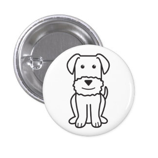 Airedale Terrier Dog Cartoon Pinback Button