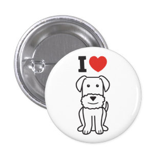 Airedale Terrier Dog Cartoon Pin