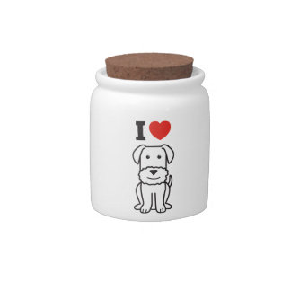 Airedale Terrier Dog Cartoon Candy Dishes