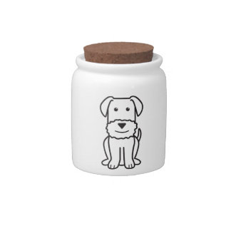 Airedale Terrier Dog Cartoon Candy Jar