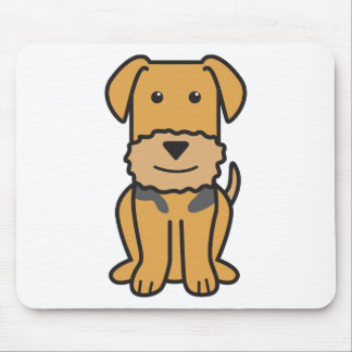Airedale Terrier Dog Cartoon Mousepads
