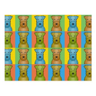Airedale Terrier Dog Cartoon Pop-Art Postcard