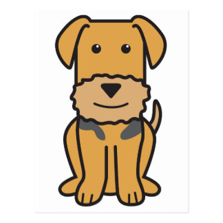 Airedale Terrier Dog Cartoon Postcard