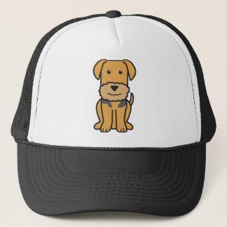 Airedale Terrier Dog Cartoon Trucker Hat