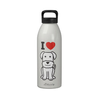 Airedale Terrier Dog Cartoon Water Bottle