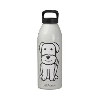 Airedale Terrier Dog Cartoon Water Bottles