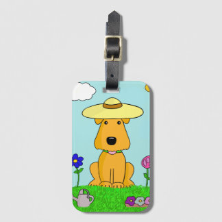 Airedale Terrier Dog in the Garden Luggage Tag