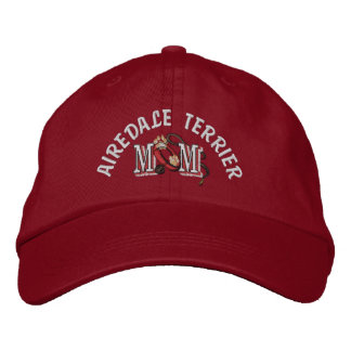 Airedale Terrier Dog Mom Embroidered Baseball Hat